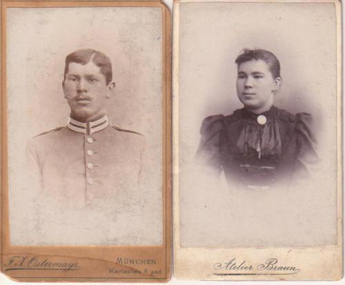 Joseph Bergmeister and Marie Echerer, approx dates 1893-95