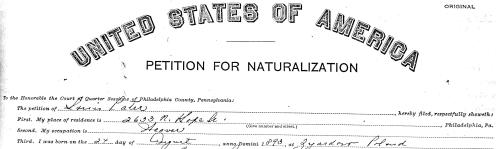 Naturalization for Louis Pater