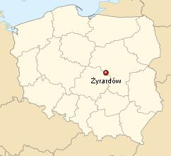 Zyrardow on the map