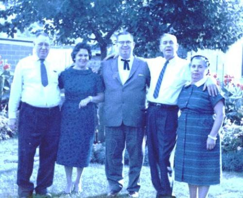 (left to right) Julius, Margaret, Max, Joseph, Marie - October 10, 1959
