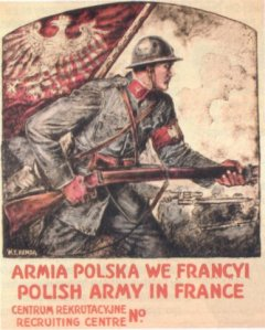 Image – Polish Army in France recruitment poster, courtesy of Wikipedia.
