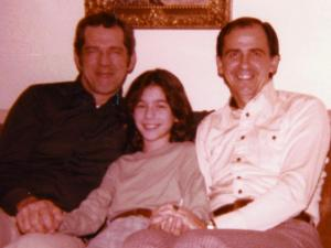 "With Dad and ""Uncle"" Frank, 1978"