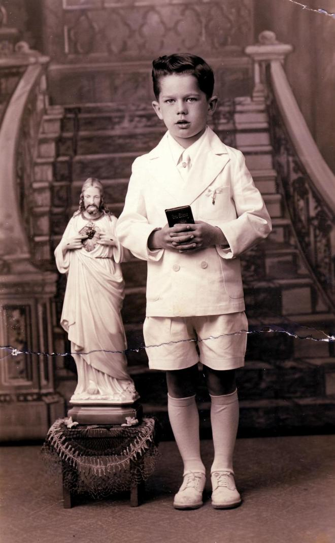 James A. Pointkouski's First Communion Day, May 11, 1941