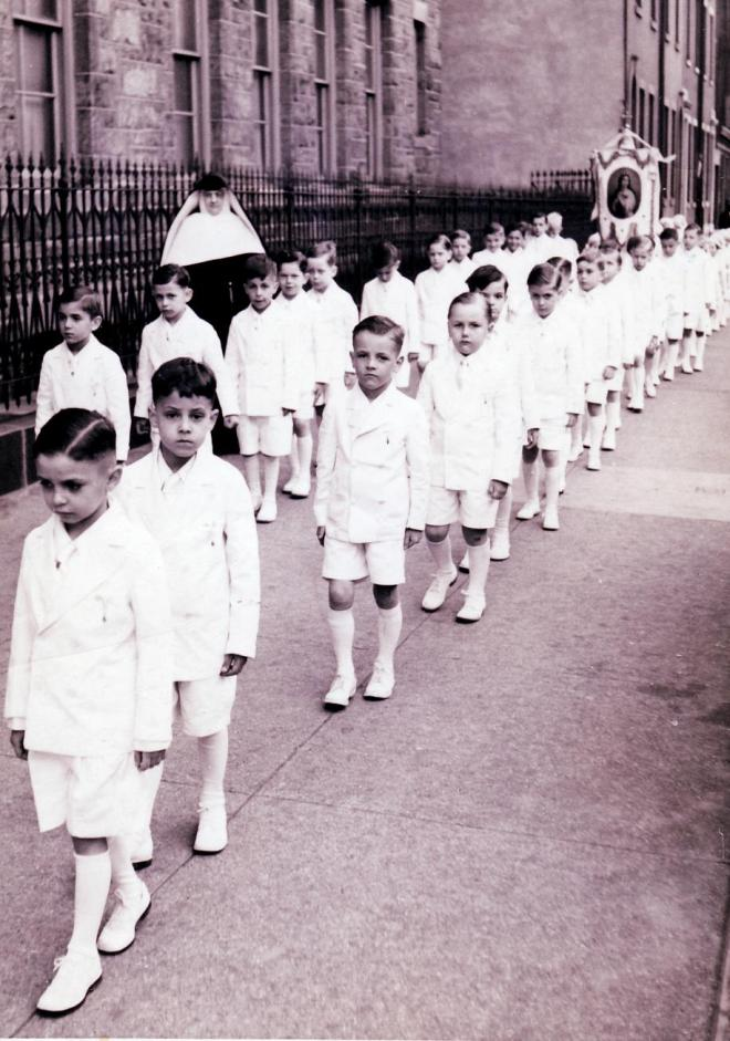 Procession of First Communicants, St. Peter's Church, Philadelphia, PA