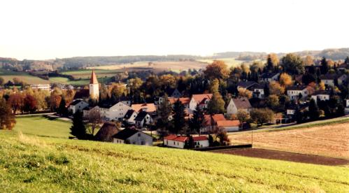 The Bavarian countryside near Pfaffenhofen an der Ilm, Bavaria, Germany.  Photo taken by the author, 1998.