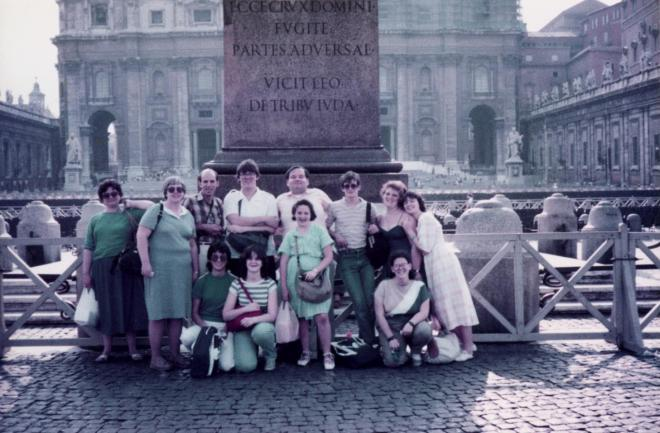 Our entire group in St. Peter's Square - July 9, 1985 - Rome, Italy