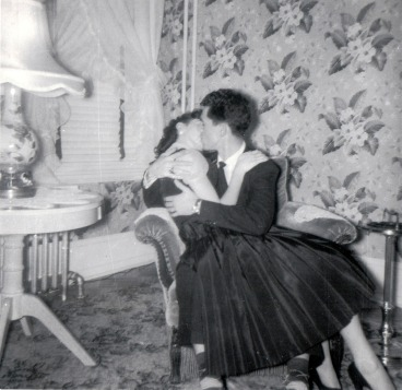 My parents on Christmas Day in 1955