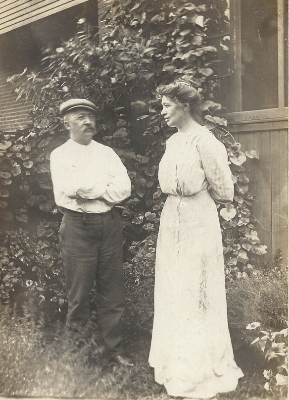 Max and Laura at their home, September 1910